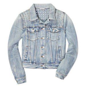 Aritzia Talula Studded Denim Jacket Size XS